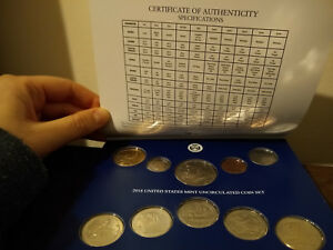 2018 P UNCIRCULATED COIN SET 10 COINS UNITED STATES MINT PHILADELPHIA W/ COA
