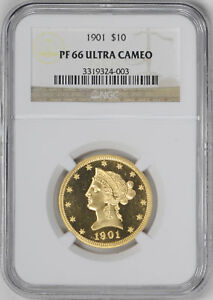 Click now to see the BUY IT NOW Price! 1901 LIBERTY HEAD $10 NGC PR 66 DCAM