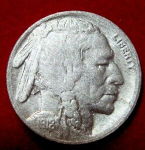 1918 S  BUFFALO NICKEL VF DETAILS RB2615 49 CENT SHIPPING ON 3