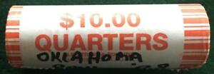 2008 OKLAHOMA UNCIRCULATED STATEHOOD QUARTER 40 COIN ROLL