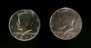 UNITED STATES LIBERTY HALF DOLLAR COIN LOT OF TWO KENNEDY DENVER 1971 1974
