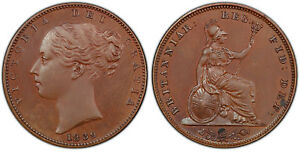 Click now to see the BUY IT NOW Price! GREAT BRITAIN VICTORIA 1839 BRONZED COPPER FARTHING PCGS PR65  SCBC 3950