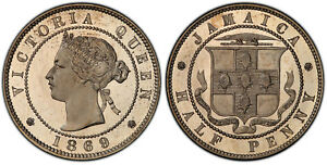 Click now to see the BUY IT NOW Price! JAMAICA VICTORIA 1869 COPPER NICKEL 1/2 PENNY PCGS PR67 CAMEO HEATON