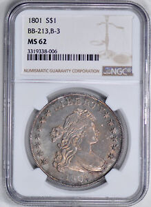 Click now to see the BUY IT NOW Price! 1801 BUST $1 NGC MS 62