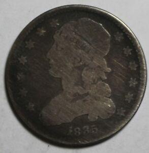 1835 CAPPED BUST QUARTER 76A