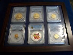 Click now to see the BUY IT NOW Price! 2011 CHINA COMPLETE 5 GOLD PANDA 1 SILVER 6 COINS SET PCGS MS 70