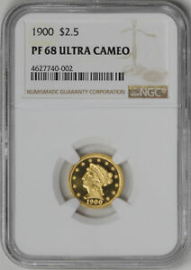 Click now to see the BUY IT NOW Price! 1900 LIBERTY HEAD $2.5 NGC PR 68