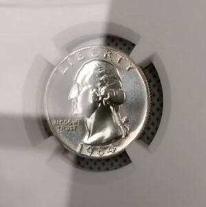 Click now to see the BUY IT NOW Price! 1964 D WASHINGTON QUARTER NGC MS67  STAR PL OBVERSE NEAR PL REVERSE 1 OF ONLY 11