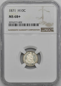 Click now to see the BUY IT NOW Price! 1871 LIBERTY SEATED H10C NGC MS 68