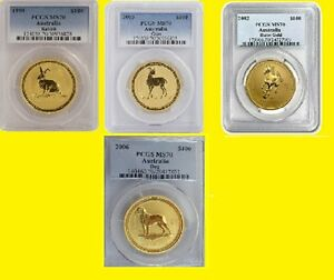 Click now to see the BUY IT NOW Price! AUSTRALIA GOLD LUNAR 4 COINS SET 4 OZ PURE GOLD PCGS MS 70   LOW POP