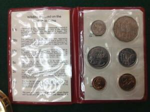1980 AUSTRALIA UNCIRCULATED/MINT SET NICE COINS RED CASE