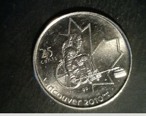 2007 CANADA 25 CENTS HIGH GRADE UNCIRCULATED NICKEL COIN  CAN 598