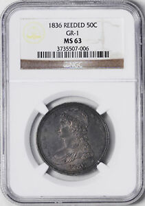 Click now to see the BUY IT NOW Price! 1836 CAPPED BUST 50C NGC MS 63