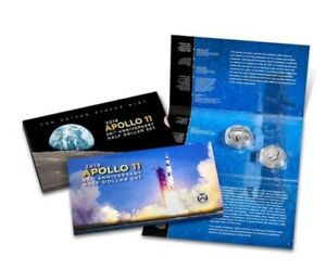 APOLLO 50TH ANNIVERSAR PROOF HALF DOLLAR SET W/ ERROR COIN IN HAND SOLD OUT MINT