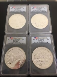 Click now to see the BUY IT NOW Price! 2011 FIRSTSTRIKE PCGS MS69PL 4 COINS 5 OZ SILVER