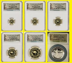 Click now to see the BUY IT NOW Price! 2014 P AUSTRALIA   3 OZ GOLD&SILVER  KANGAROO 6 COINS 25TH ANN SET NGC PF 70 FR