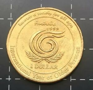 1999 AUSTRALIAN $1 ONE DOLLAR COIN   INTERNATIONAL YEAR OF OLDER PERSONS