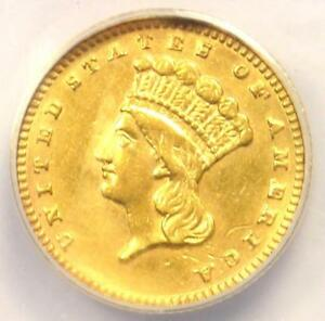 1887 INDIAN GOLD DOLLAR COIN G$1   CERTIFIED ANACS AU58 DETAILS   NEAR MS UNC