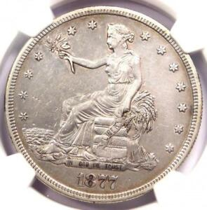 1877 S TRADE SILVER DOLLAR T$1   NGC XF DETAILS  EF     CERTIFIED COIN