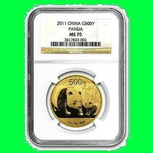 Click now to see the BUY IT NOW Price! 2011 CHINA 500Y 1 OZ GOLD PANDA NGC MS 70  1
