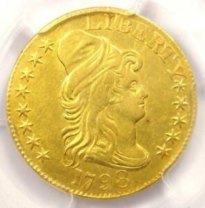 1798 CAPPED BUST GOLD HALF EAGLE $5   PCGS AU DETAILS    GOLD COIN