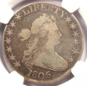 1806 DRAPED BUST HALF DOLLAR 50C COIN   CERTIFIED NGC FINE DETAILS