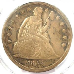 1846 O SEATED LIBERTY SILVER DOLLAR $1   PCGS XF DETAILS  EF     COIN