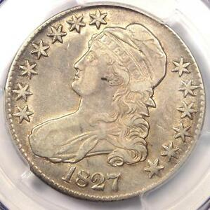 1827 CAPPED BUST HALF DOLLAR 50C   PCGS XF DETAILS  EF     CERTIFIED COIN