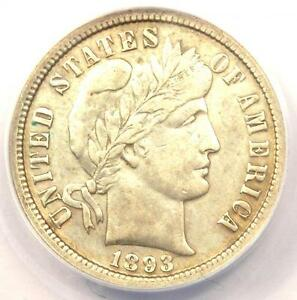 1893 O BARBER DIME 10C   CERTIFIED ANACS XF40 DETAILS  EF40     DATE