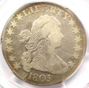 1805 DRAPED BUST HALF DOLLAR 50C COIN O 111   CERTIFIED PCGS FINE DETAILS