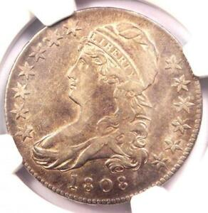 1808 CAPPED BUST HALF DOLLAR 50C   CERTIFIED NGC XF DETAILS  EF     COIN