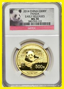 Click now to see the BUY IT NOW Price! 2014 CHINA 500Y 1 OZ GOLD PANDA NGC MS 70  1