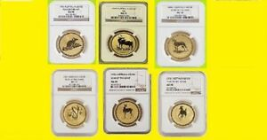 Click now to see the BUY IT NOW Price! 1996 2006 AUSTRALIA GOLD LUNAR 6 COINS SET 6 OZ PURE GOLD NGC MS 70 SERIES 1