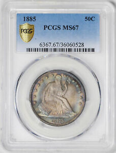 Click now to see the BUY IT NOW Price! 1885 LIBERTY SEATED 50C PCGS MS 67