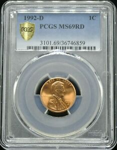 Click now to see the BUY IT NOW Price! 1992 D LINCOLN 1C PCGS MS 69 RD  POP 8 | FINEST KNOWN