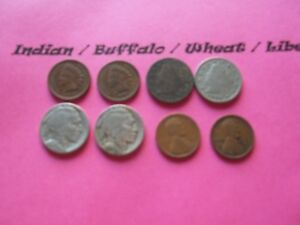 VINTAGE LOT OF 8 OLD AND  COINS THAT ARE 50 125 YEARS OLD  8 COINS  IVBW 26