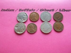 VINTAGE LOT OF 8 OLD AND  COINS THAT ARE 50 125 YEARS OLD  8 COINS  IVBW 29
