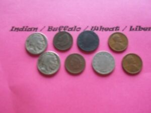 VINTAGE LOT OF 8 OLD AND  COINS THAT ARE 50 125 YEARS OLD  8 COINS  IVBW 25
