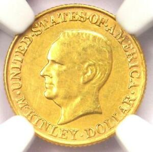 1917 MCKINLEY COMMEMORATIVE GOLD DOLLAR COIN G$1   CERTIFIED NGC AU DETAILS