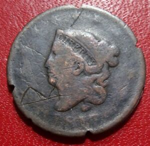 LOWER GRADE 1817 MATRON LIBERTY HEAD LARGE CENT COIN PENNY OLD USA COPPER MONEY