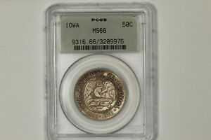 1946 IOWA HALF DOLLAR COMMEMORATIVE PCGS MS 66