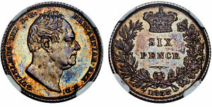 Click now to see the BUY IT NOW Price! BRITAIN WILLIAM IV. 1837 AR SIXPENCE. NGC PR64 S 3836.  DATE IN PROOF.