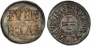 Click now to see the BUY IT NOW Price! ITALIAN ST. VENICE. LOUIS THE PIOUS.  819 822  AR DENIER PCGS MS65 SUPERB TONING