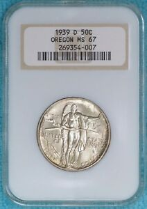 1939 D MS 67 OREGON TRAIL EARLY COMEMEMORATIVE HALF 3 004 MINTED UNCIRCULATED