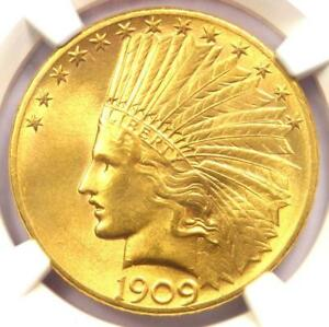 1909 S INDIAN GOLD EAGLE  $10 COIN    NGC MS63  CHOICE BU    $6 150 VALUE