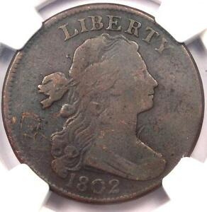 1802 DRAPED BUST LARGE CENT 1C S 240   NGC VF DETAILS    EARLY PENNY