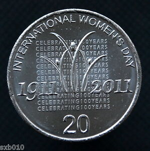 AUSTRALIA  20 CENTS 2011  INTERNATIONAL WOMEN'S DAY  . KM1642. UNC COMMEMORATIVE