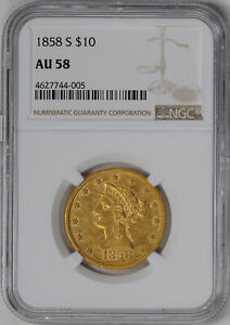 Click now to see the BUY IT NOW Price! 1858 S LIBERTY HEAD $10 NGC AU 58