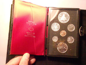 1976 CANADA 7 COIN PROOF SET WITH COA AND CASE