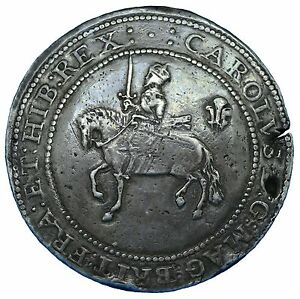 Click now to see the BUY IT NOW Price! CHARLES I SILVER SHREWSBURY 1642 POUND MM 5 PELLETS ON OBV ONLY N2361 S2917 GVF